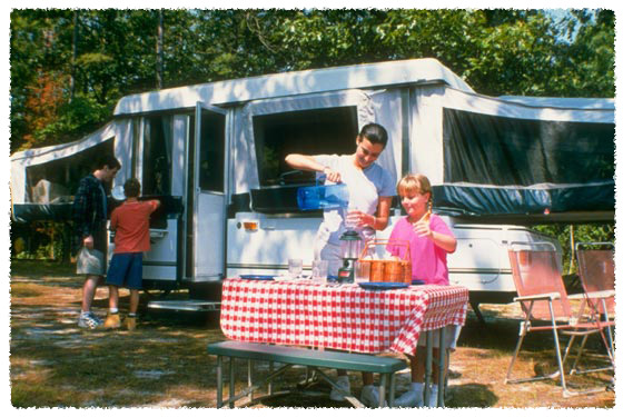 RV family camping fun